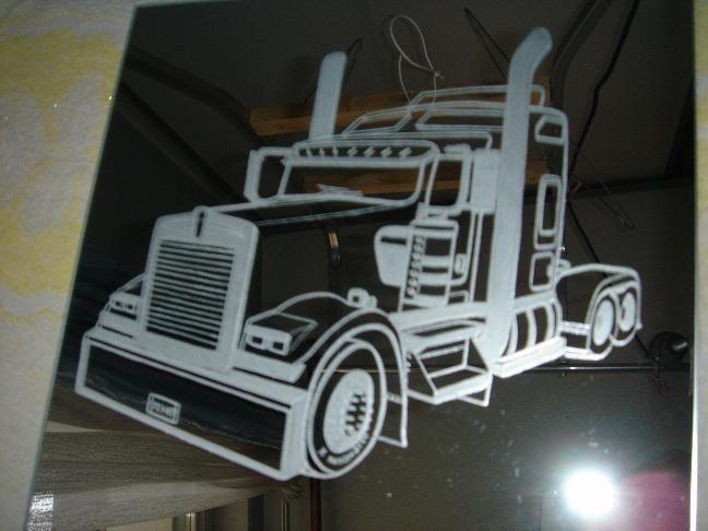 Miroir - Camion americain dessin ...